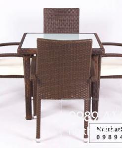 Bàn ghế mây nhựa NT 021