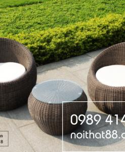 Bàn ghế mây nhựa NT 041