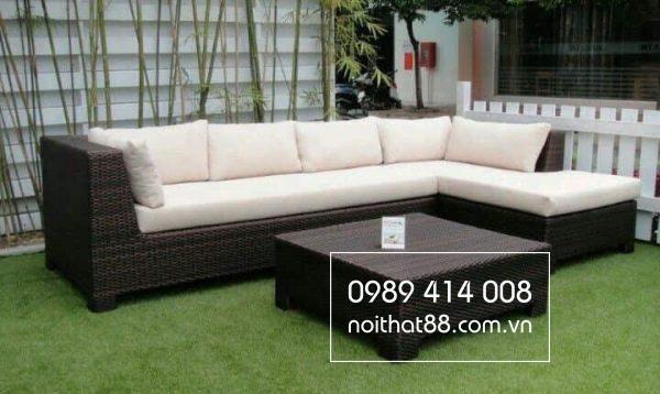 Khéo léo lựa chọn bộ sofa nhựa mây hottrend cho không gian phòng khách