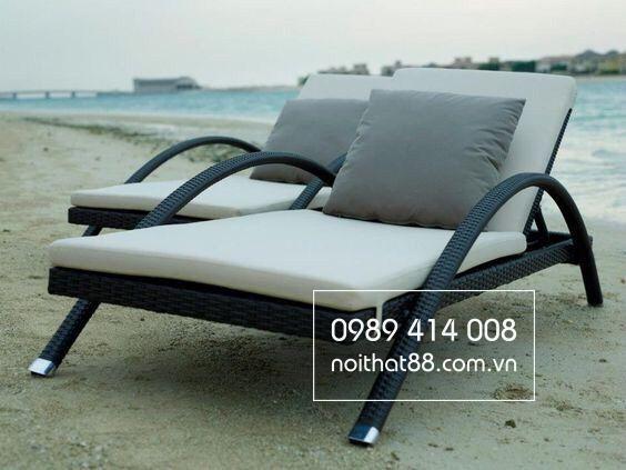 Giường ngoài trời được thiết kế trên bãi biển