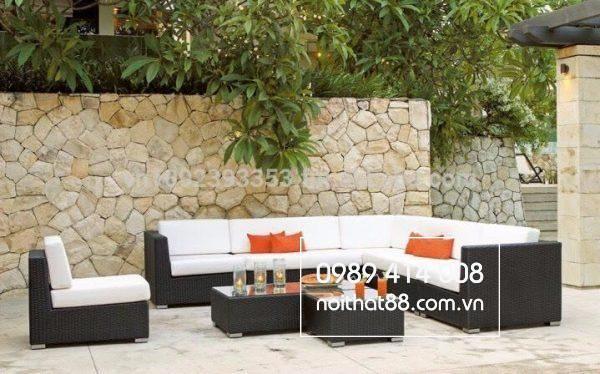 Những bộ sofa như này có thể đặt bất kể đâu dù trong nhà hay ngoài trời